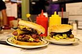 Hamburger in Milt's Stop & Eat, Moab, Utah, USA