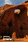 Touring, Monument Valley, Sun's Eye,  Navajo Tribal Lands, Utah, USA