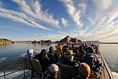 Boat trip, Lake Powell, Glen Canyon, Arizona, USA