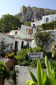 Houses at the idyllic Plaka district, Athens, Greece, Europe