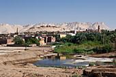 View on Dakhla Oasis, Libyan Desert, Egypt