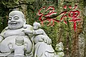 Laughing Buddha statue at a temple, Jinfeng, Changle, Fujian province, China, Asia