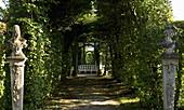 Rococo garden in Veitshoechheim castle, near Würzburg, Lower Franconia, Bavaria, Germany, Europe