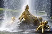 Fountain in Linderhof castle, Ettal, near Oberammergau, Bavaria, Germany, Europe