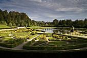 Barock terrace garden with lake, Neuwerkgarten, Gottorf Castle, Schleswig, Schleswig-Holstein, Germany, Europe