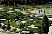 Palace gardens at Ludwigsburg palace, Ludwigsburg, Baden-Württemberg, Germany, Europe