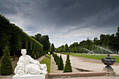 Palace gardens at Schwetzingen castle, Baden-Württemberg, Germany, Europe