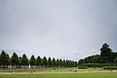 Palace gardens in Schwetzingen Castle, Baden-Württemberg, Germany, Europe