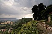 Dornburger castles, terraced garden, Dornburg, near Jena, Thuringia, Germany, Europe