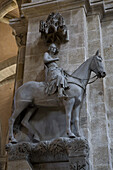 The Bamberg Horseman in Bamberg Cathedral, cathedral of St. Peter and St. Georg, Bamberg, Franken, Bavaria, Germany, Europe