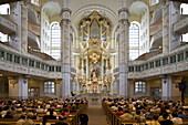 Interior view of the Dresdner Frauenkirche, Church of Our Lady, Dresden, Saxony, Germany, Europe