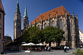 St. Sebaldus church, Sebalduskirche in Nuremberg, Nuremberg, Bavaria, Germany, Europe