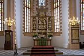Altar in the St. Annenkirche, Annaberg-Buchholz, Saxony, Germany, Europe