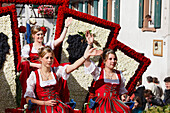Wine Princess at the Wine and Harvest festival in Sasbachwalden, Baden-Wurttemberg, Germany