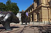 The bear and the bull, Frankfurt Stock Exchange, Frankfurt am Main, Hesse, Germany