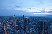 City view with Messeturm, Fair Tower, Frankfurt am Main, Hesse, Germany