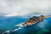 Arial view of Cape of Good Hope, Cape Town, Cape Peninsula, Western Cape, South Africa, Africa