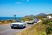 Oldtimer near Cape of Good Hope, Cape Town, Cape Peninsula, Western Cape, South Africa, Africa