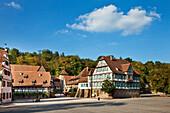 Monastery yard, Cistercian monastery, Maulbronn, Baden-Wuerttemberg, Germany