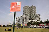 Florida,  Miami,  Midtown,  Art Basel,  Pedestriart,  urban art project,  public art installation,  street signs,  artist,  Loenel Matheu,  high rise building,  park