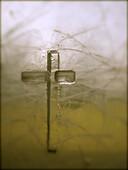 Christianity, Color, Colour, Cross, Glass, Religion, Symbol, Vertical, G34-830467, agefotostock