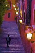 Street in the Jewish quarter,  Girona. Catalonia,  Spain