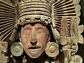 Aztec personage. Museo Nacional de Antropologia. Ciudad de Mexico