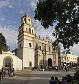Convento de San Juan Bautista. Barrio de Coyoacan. Ciudad de México.