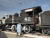 Locomotora de Vapor. Museo del Ferrocarril. Puebla. México.