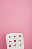 Absence, Absent, Back, Backs, Chair, Chairs, Clipping path, Color, Colour, Concept, Concepts, Nobody, One, Pink, Shape, Shapes, Studio shot, White, L28-727798, agefotostock