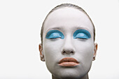 Adult, Adults, Beauty, Beauty Care, Caucasian, Caucasians, Close up, Close-up, Closed eyes, Closeup, Color, Colour, Contemporary, Eyes shut, face, faces, Female, headshot, headshots, human, Make up, Make-up, Makeup, Odd, One, One person, people, person, p