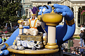Aladdin in Parade at Walt Disney Magic Kingdom Theme Park Orlando Florida Central