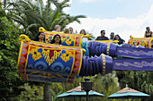 The Magic Carpets of Aladdin Ride at Walt Disney Magic Kingdom Theme Park Orlando Florida Central