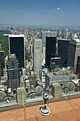 Central Park from Top of the Rock observation deck at Rockefeller Building,  Midtown Manhattan,  New York,  USA,  2008