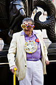 Man dressed for the Easter Parade,  New York,  USA