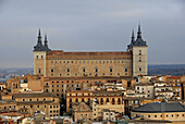 El Alcazar,  built in the XVI century following the designs of architect Alonso de Covarrubias Almost totally destroyed in 1936,  during the Spanish Civil War and rebuilt in 1940 Library of Castilla-La Mancha and future Army National Museum