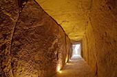 Dolmen de Viera Bronze Age burial mound,  Antequera. Malaga province,  Andalucia,  Spain