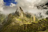 Ancient, Andes, Civilization, Clouds, Color, Colour, Cusco, Fog, Machu Picchu, Mountain, Peru, Ruins, South america, S19-830076, agefotostock