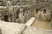 Ancient, Andes, Civilization, Color, Colour, Cusco, Machu Picchu, Mason, Mountain, Mystical, Peru, Rock, Room, Ruins, South america, Stone, S19-830093, agefotostock