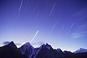 Gasherbrun Peaks and Star trails