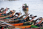 Fishing and transportation boats on the Irrawady River