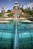 Vertical tobogan in Siam Park theme park. Tenerife. Canary Islands. Spain