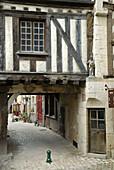 Mediaeval house,  Noyers-sur-Serein,  Yonne,  France