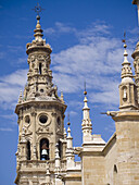 18th Century baroque tower of the Concatedral Santa Maria la Redonda - Logroño - La Rioja - Spain