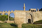 Turkey,  Anatolia,  Sanliurfa (aka Urfa,  ´the Prophet´s city´),  Golbasi,  Balikli Gol,  Rizvaniye Vakfi Camil and Medressa