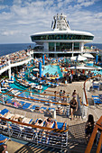 Boat, Caribbean, Color, Colour, Contemporary, Cruise, Deck, Fun, Holiday, Leisure, Navigator, Play, Pool, Recreation, Relax, Relaxation, Seas, Ship, Sun, Sunning, Suntan, Swimming, Tan, Tanning, The, Tourism, Travel, Vacation, XL6-834444, agefotostock