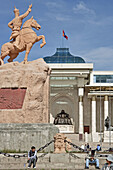 Government house parliament building and Sukhbaatar Square,  Ulaan Baatar,  Mongolia No releases available