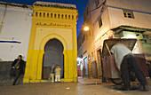End of Avenue Mohamed V,  into the medina,  Rabat,  Morocco