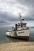 Fishing boat,  Cancale. Ille-et-Vilaine,  Bretagne,  France