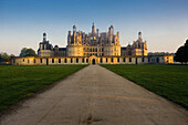 Chambord Castle at sunrise,  Loir-et-Cher,  Centre,  France